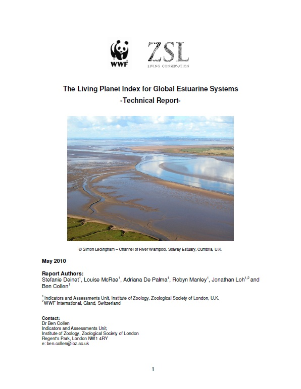Living Planet Report For Estuarine Species 2010