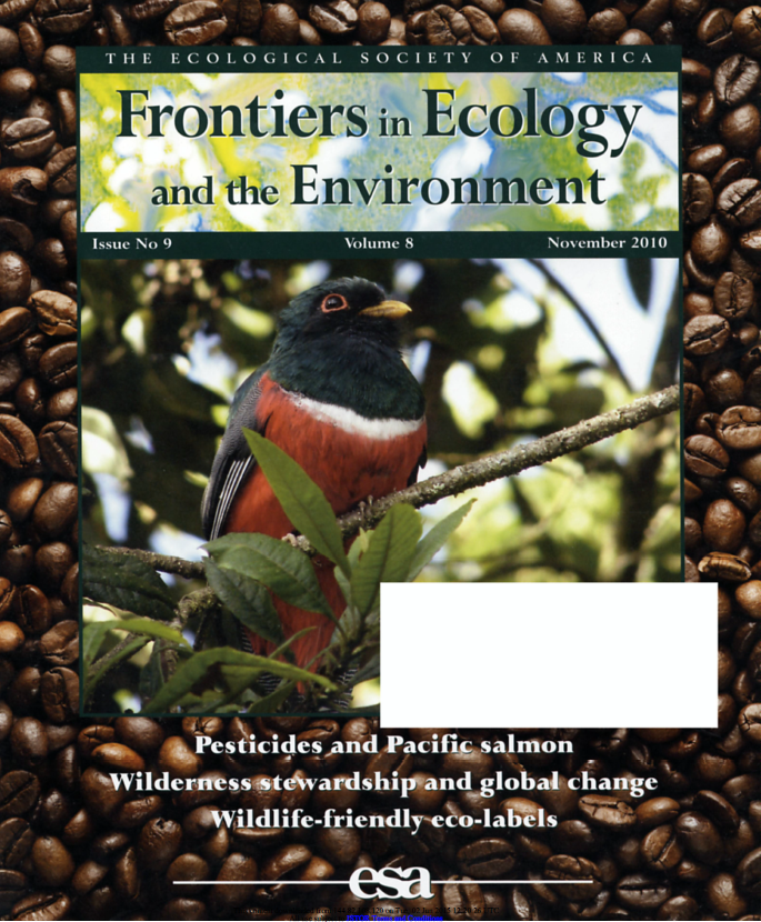 Frontiers in Ecology and the Environment (2010) Vol 8, No. 9 Cover